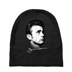 james dean with signature v.2 Baby Beanies | Artistshot