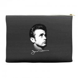 james dean with signature v.2 Accessory Pouches | Artistshot