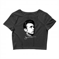 james dean with signature v.2 Crop Top | Artistshot