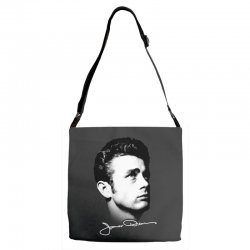 james dean with signature v.2 Adjustable Strap Totes | Artistshot