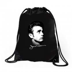 james dean with signature v.2 Drawstring Bags | Artistshot