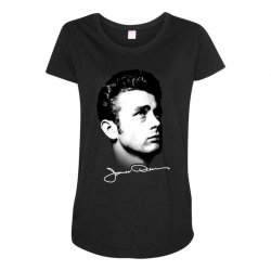 james dean with signature v.2 Maternity Scoop Neck T-shirt | Artistshot