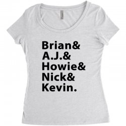 brian a.j. howie nick kevin black Women's Triblend Scoop T-shirt | Artistshot