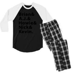 brian a.j. howie nick kevin black Men's 3/4 Sleeve Pajama Set | Artistshot