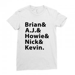brian a.j. howie nick kevin black Ladies Fitted T-Shirt | Artistshot