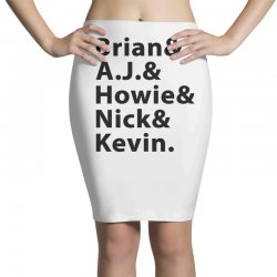 brian a.j. howie nick kevin black Pencil Skirts | Artistshot