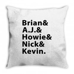 brian a.j. howie nick kevin black Throw Pillow | Artistshot