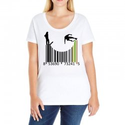 barcode skaters Ladies Curvy T-Shirt | Artistshot
