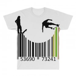 barcode skaters All Over Men's T-shirt | Artistshot