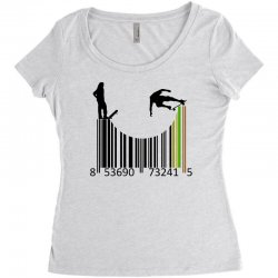 barcode skaters Women's Triblend Scoop T-shirt | Artistshot
