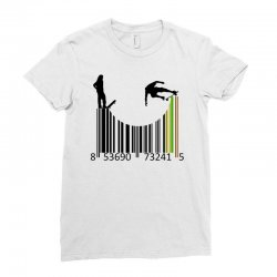 barcode skaters Ladies Fitted T-Shirt | Artistshot