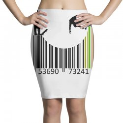 barcode skaters Pencil Skirts | Artistshot