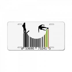 barcode skaters License Plate | Artistshot