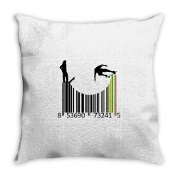 barcode skaters Throw Pillow | Artistshot