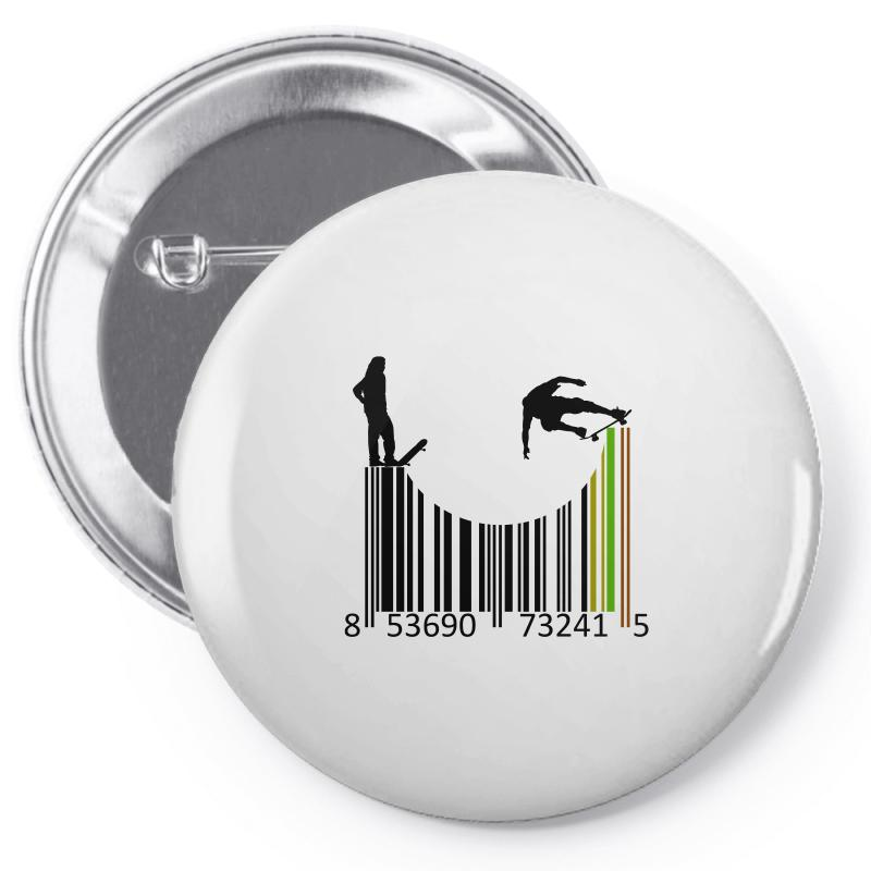 Barcode Skaters Pin-back Button | Artistshot