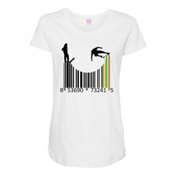 barcode skaters Maternity Scoop Neck T-shirt | Artistshot