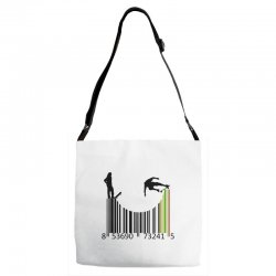 barcode skaters Adjustable Strap Totes | Artistshot