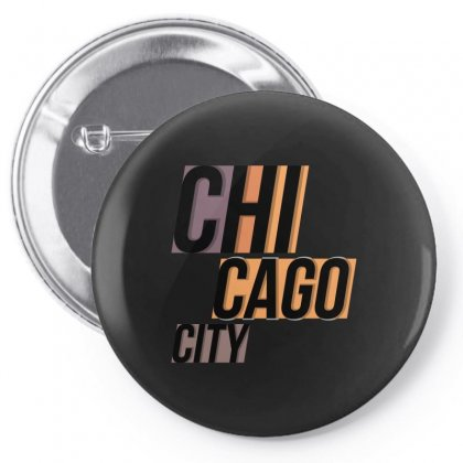 Chicago City Pin-back Button Designed By Igun