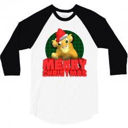 merry christmas simba 3/4 Sleeve Shirt | Artistshot