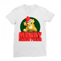 merry christmas simba Ladies Fitted T-Shirt | Artistshot