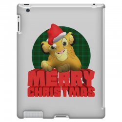 merry christmas simba iPad 3 and 4 Case | Artistshot