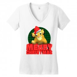 merry christmas simba Women's V-Neck T-Shirt | Artistshot