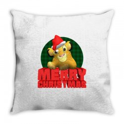 merry christmas simba Throw Pillow | Artistshot