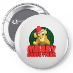merry christmas simba Pin-back button | Artistshot