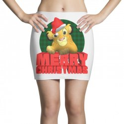 merry christmas simba Mini Skirts | Artistshot