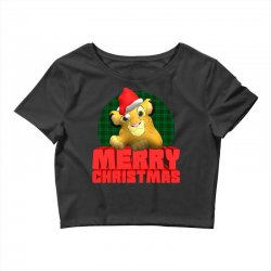 merry christmas simba Crop Top | Artistshot