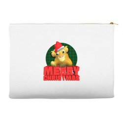 merry christmas simba Accessory Pouches | Artistshot