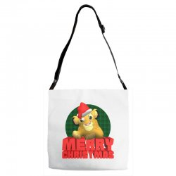 merry christmas simba Adjustable Strap Totes | Artistshot