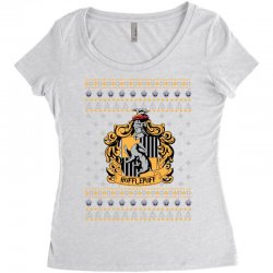 harry potter hufflepuff ugly christmas Women's Triblend Scoop T-shirt | Artistshot