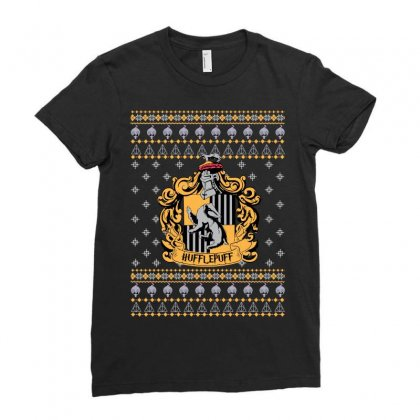 Harry Potter Hufflepuff Ugly Christmas Ladies Fitted T-shirt Designed By Sengul