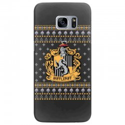 harry potter hufflepuff ugly christmas Samsung Galaxy S7 Edge Case | Artistshot