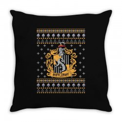 harry potter hufflepuff ugly christmas Throw Pillow | Artistshot