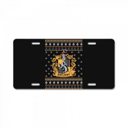 harry potter hufflepuff ugly christmas License Plate | Artistshot