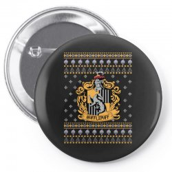 harry potter hufflepuff ugly christmas Pin-back button | Artistshot