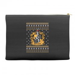 harry potter hufflepuff ugly christmas Accessory Pouches | Artistshot
