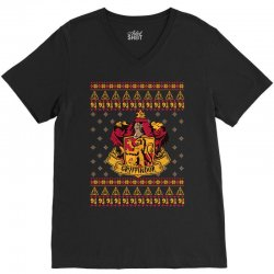 harry potter gryfindor ugly christmas V-Neck Tee | Artistshot