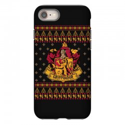 harry potter gryfindor ugly christmas iPhone 8 Case | Artistshot