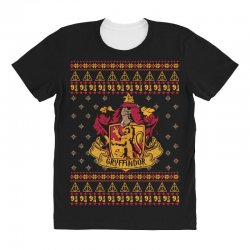 harry potter gryfindor ugly christmas All Over Women's T-shirt | Artistshot