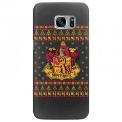 harry potter gryfindor ugly christmas Samsung Galaxy S7 Edge Case | Artistshot