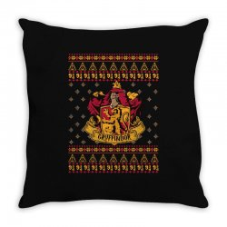 harry potter gryfindor ugly christmas Throw Pillow | Artistshot