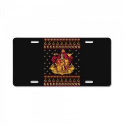 harry potter gryfindor ugly christmas License Plate | Artistshot