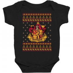 harry potter gryfindor ugly christmas Baby Bodysuit | Artistshot