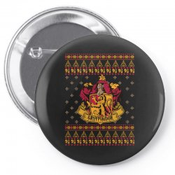 harry potter gryfindor ugly christmas Pin-back button | Artistshot