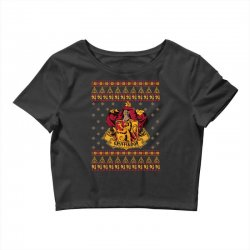 harry potter gryfindor ugly christmas Crop Top | Artistshot