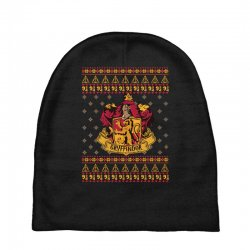 harry potter gryfindor ugly christmas Baby Beanies | Artistshot