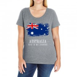 This is my country - Australia Ladies Curvy T-Shirt | Artistshot